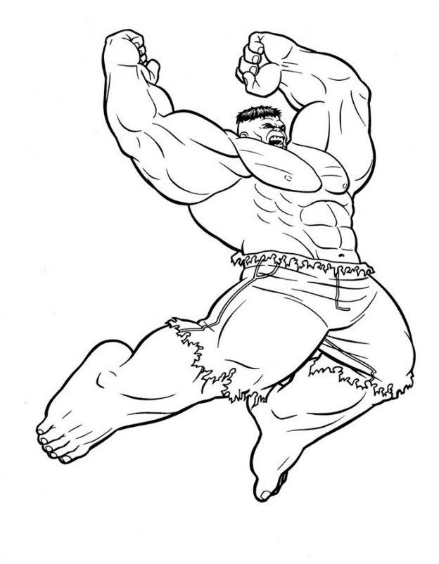 Dibujos Para Colorear De Hulk El Hombre Increible
