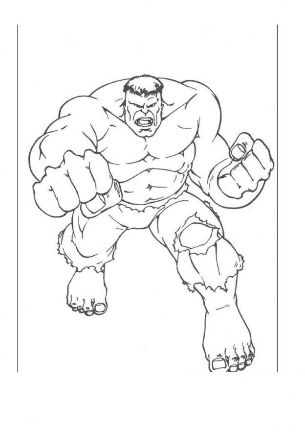 Dibujos Para Pintar A Hulk