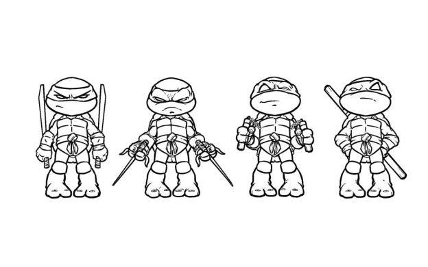 Imagenes De La Tortugas Ninjas Para Colorear