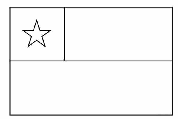 Bandera De Chile Para Colorear