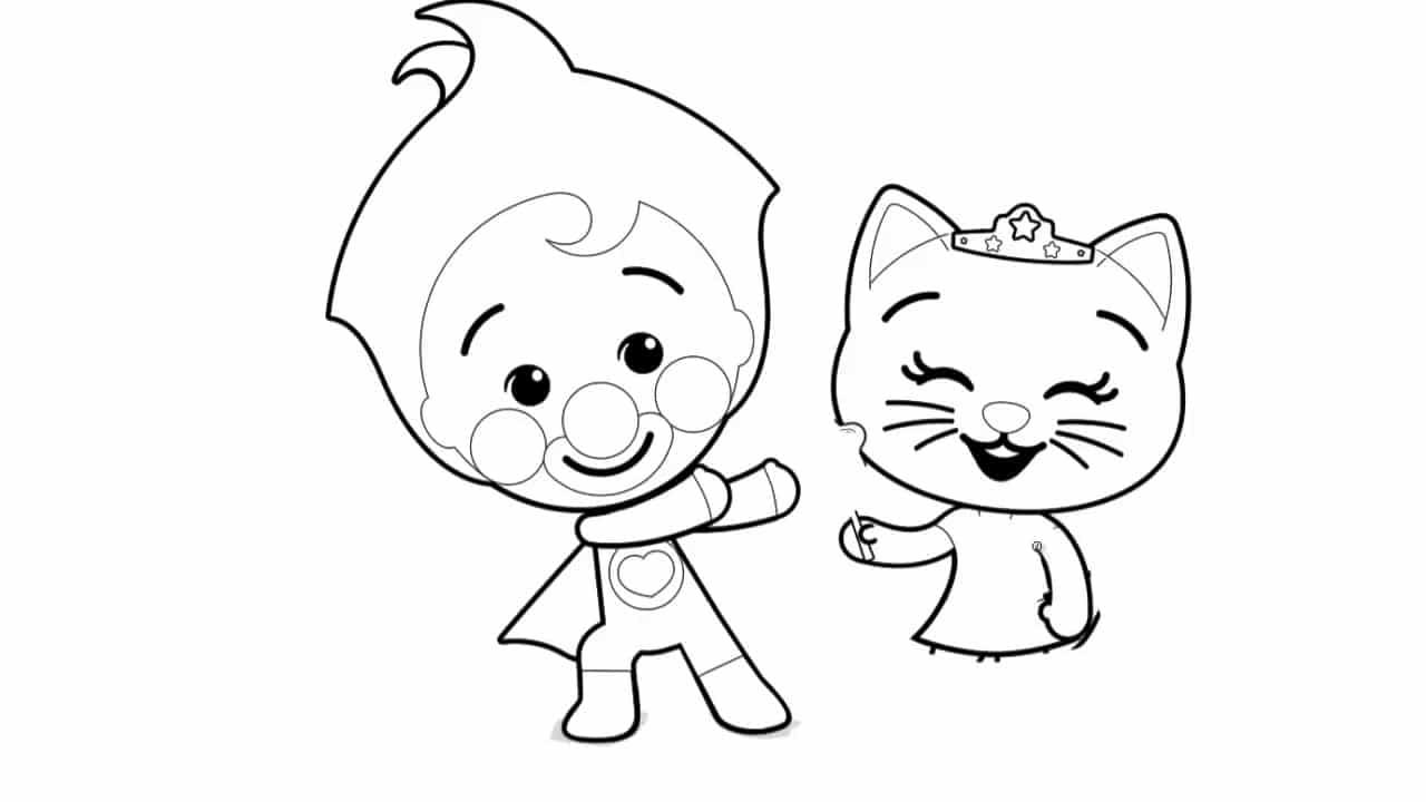 Deibujos Para Colorear De Personajes Tv Plim Plim