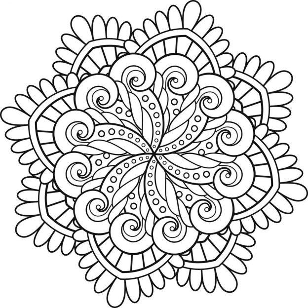 Dibujo De Mandala Para Colorear Gratis