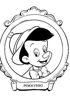 Dibujo De Pinocho En El Espejo Para Colorear