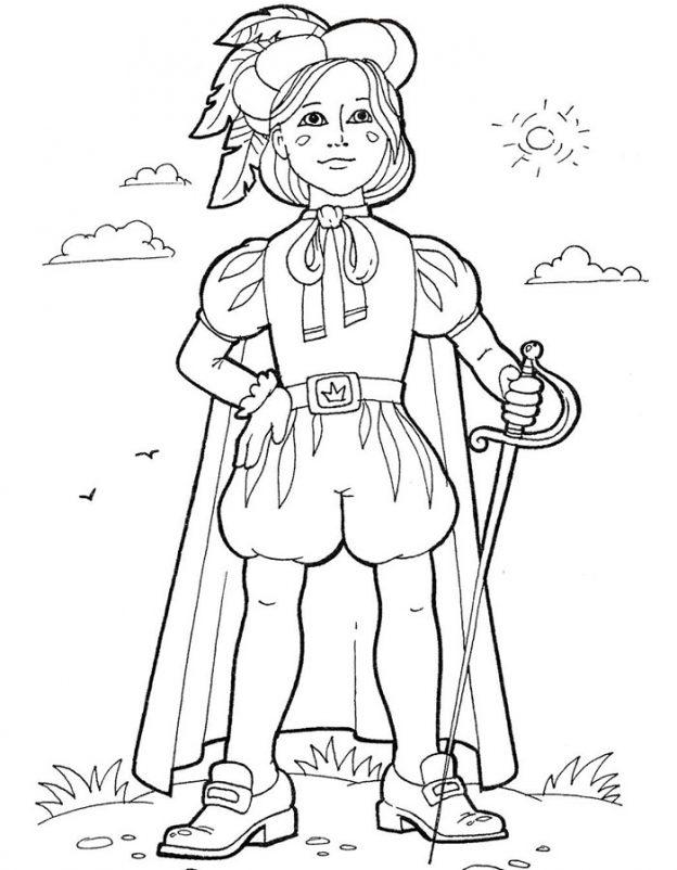 Dibujo De Principe Joven Para Colorear