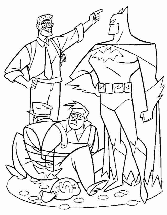 Dibujos Animados De Batman Para Colorear