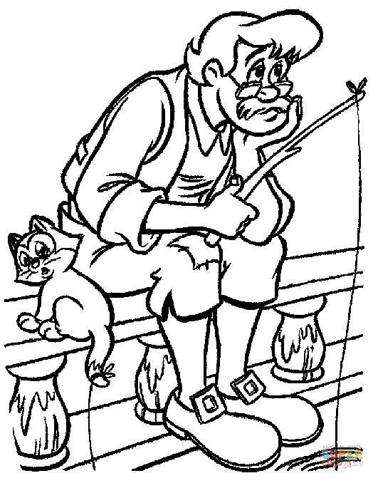 Dibujos De Abuelo De Pinocho Para Colorear
