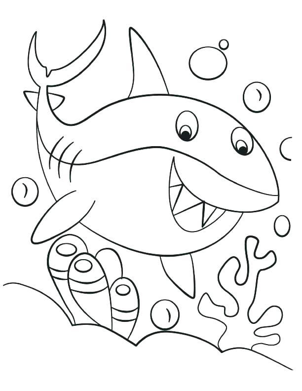 Dibujos De Baby Shark Para Colorear