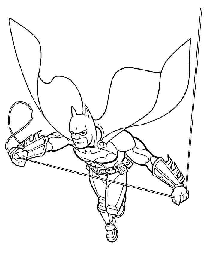 Dibujos De Batman Para Colorear Faciles
