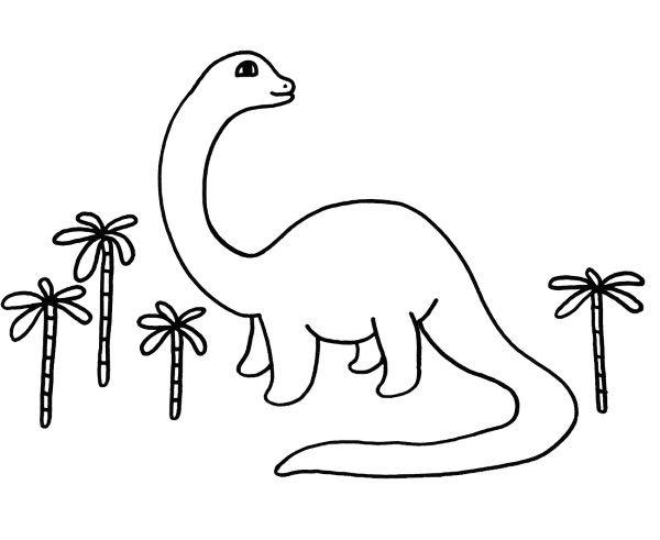 Dibujos De Dinosarios Para Pintar Y Imprimir