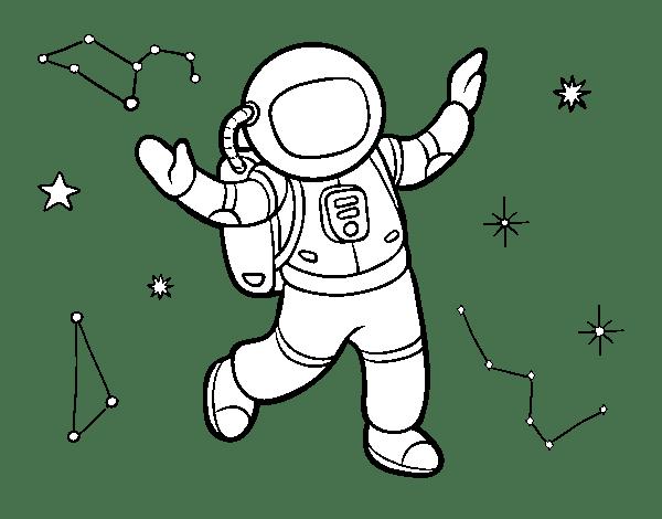 Dibujos De Espacio Para Colorear Astronauta