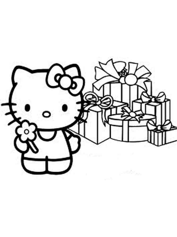 Dibujos De Hello Kitty Para Colorear