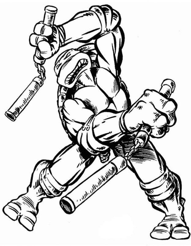 Dibujos De Las Tortugas Ninja Para Colorear