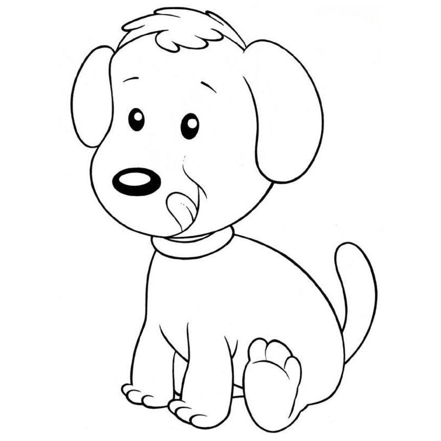 Dibujos De Perrito Tierno Para Pintar