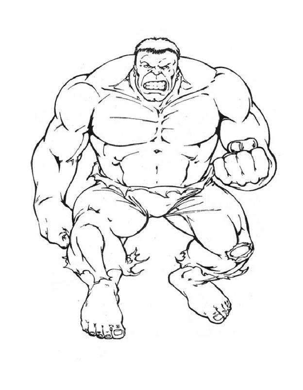 Dibujos Para Colorear A Hulk Buster