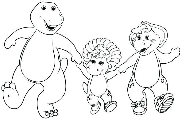 Dibujos Para Colorear Barney Y Sus Amigos