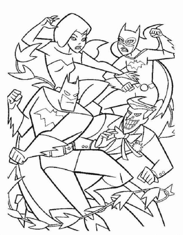 Dibujos Para Colorear Batman Batimovil