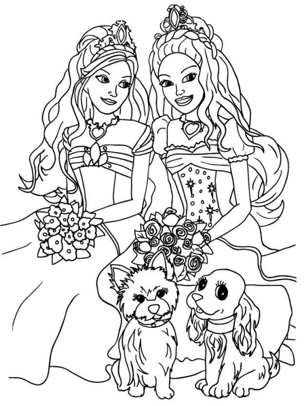 Dibujos Para Colorear De Barbie Gratis