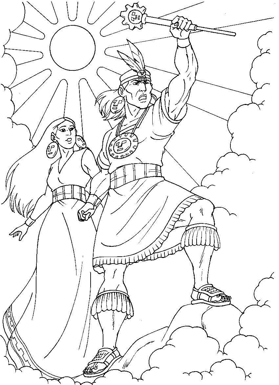 Dibujos Para Colorear De Cultura Manco Capac
