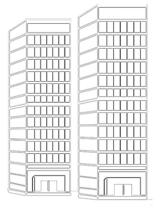 Dibujos Para Colorear De Edificios Altos
