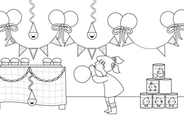 Dibujos Para Colorear De Fiesta Infantil