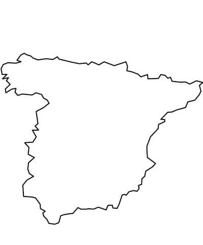 Dibujos Para Colorear De Geografia Madrid