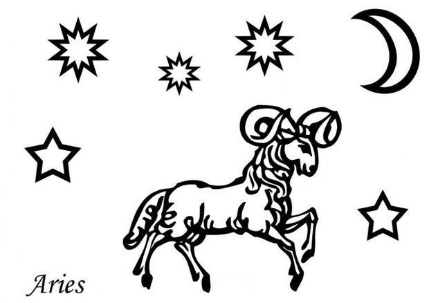 Dibujos Para Colorear De Horoscopo Aries