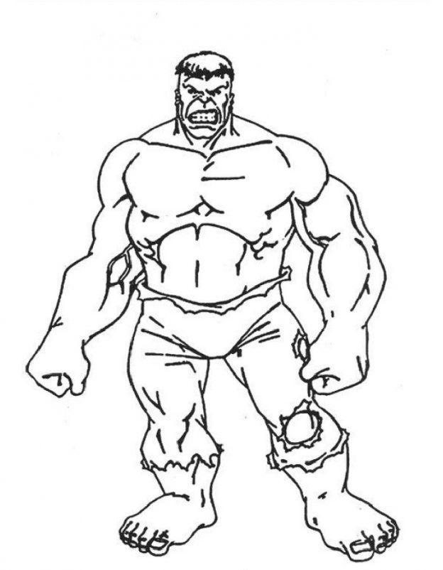 Dibujos Para Colorear De Hulk Bebe