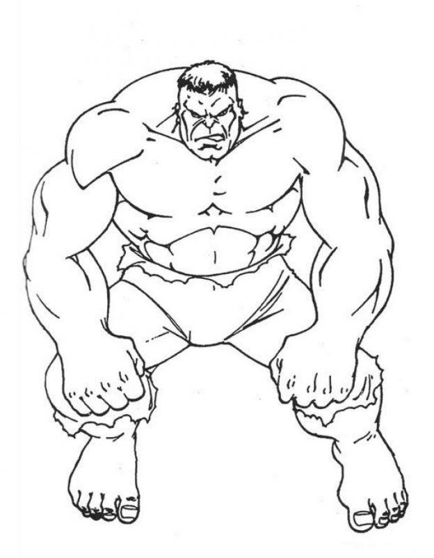 Dibujos Para Colorear De Hulk Buster