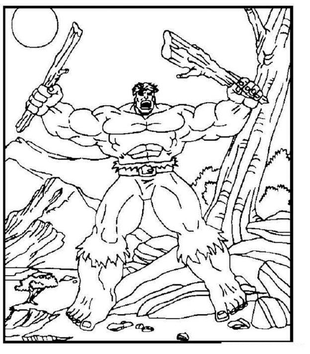 Dibujos Para Colorear De Hulk Gratis