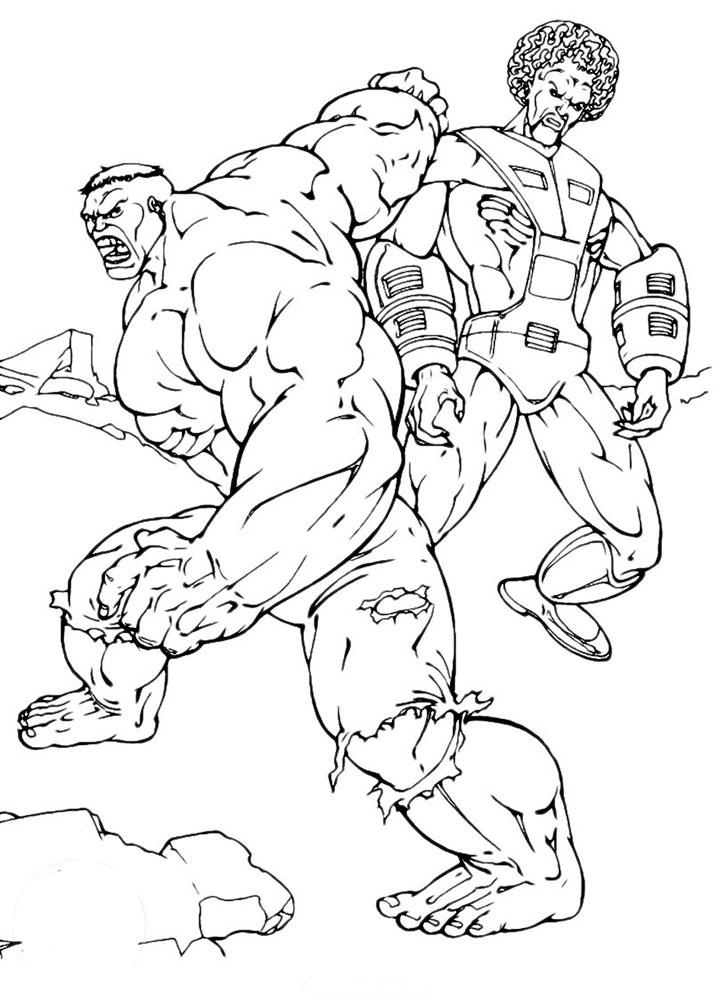 Dibujos Para Colorear De Hulk Rojo