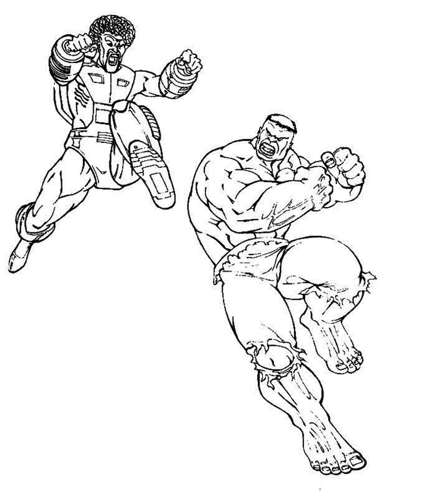Dibujos Para Colorear De Hulk Vs Thor