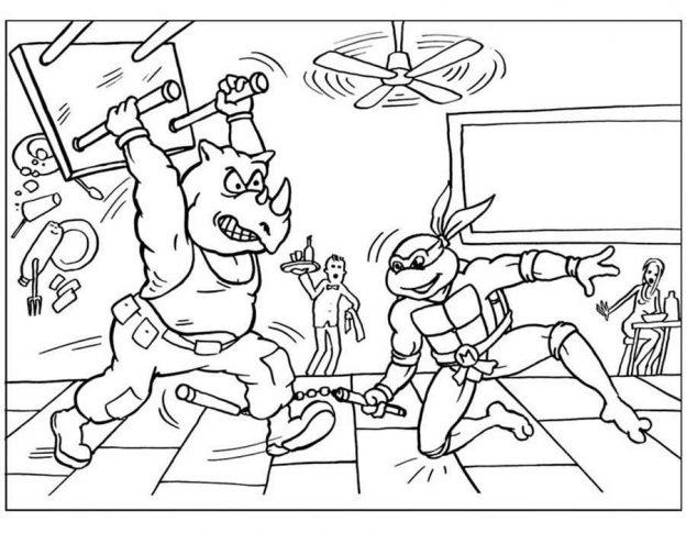 Dibujos Para Colorear De Las Tortugas Ninjas Nickelodeon