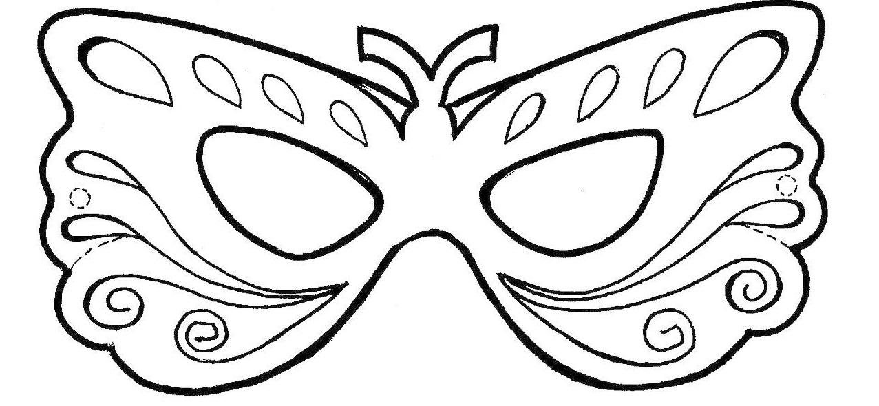 Dibujos Para Colorear De Mascaras Para Carnaval