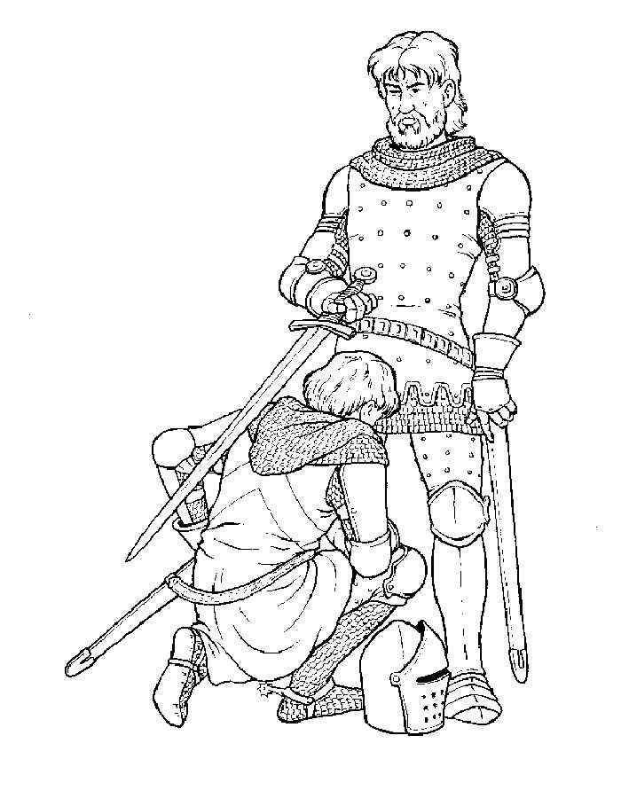 Dibujos Para Colorear De Principe Y Su Padre