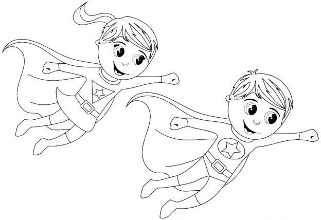 Dibujos Para Colorear De Super Heroes Pareja