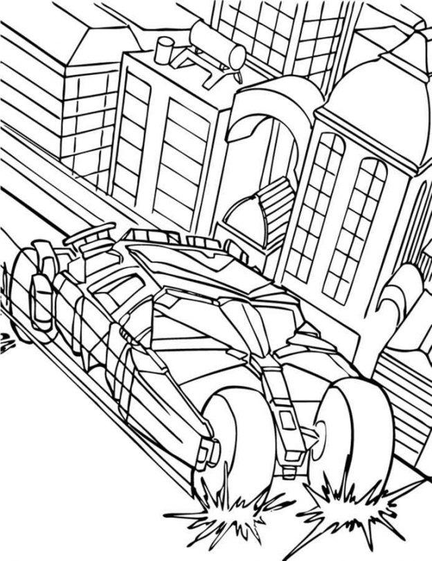 Dibujos Para Colorear Del Carro De Batman