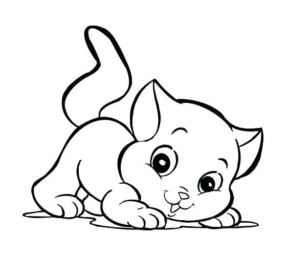 Dibujos Para Colorear Gatos Para Gatitos Tiernos