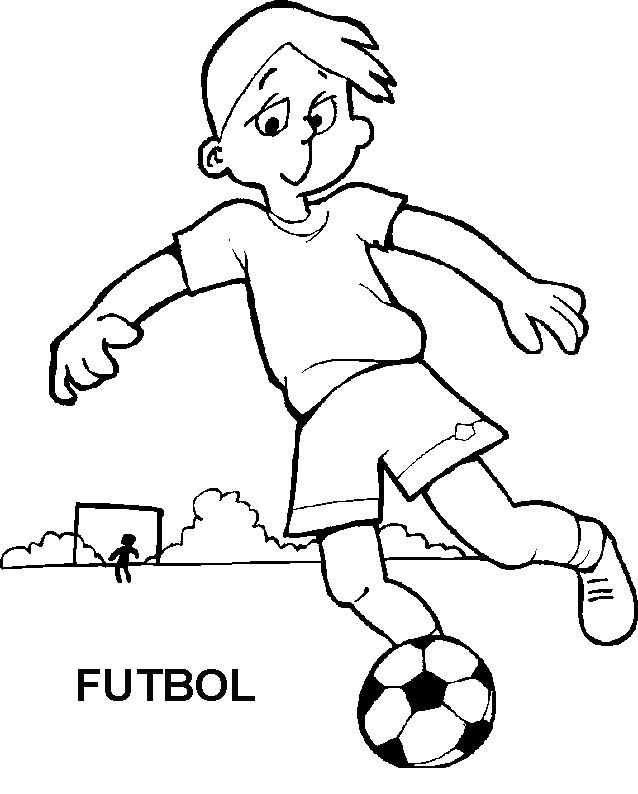 Dibujos Para Colorear Jugando Futbol
