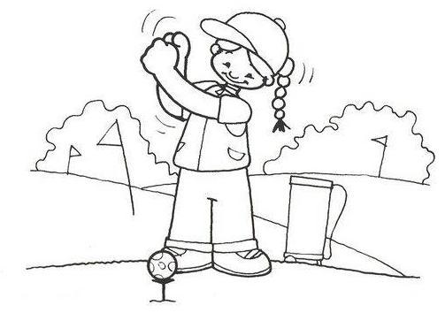 Dibujos Para Colorear Niños Barriendo