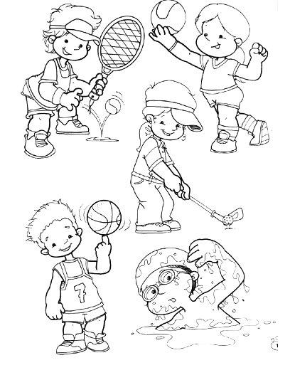 Dibujos Para Colorear Niños Estudiando Matematicas