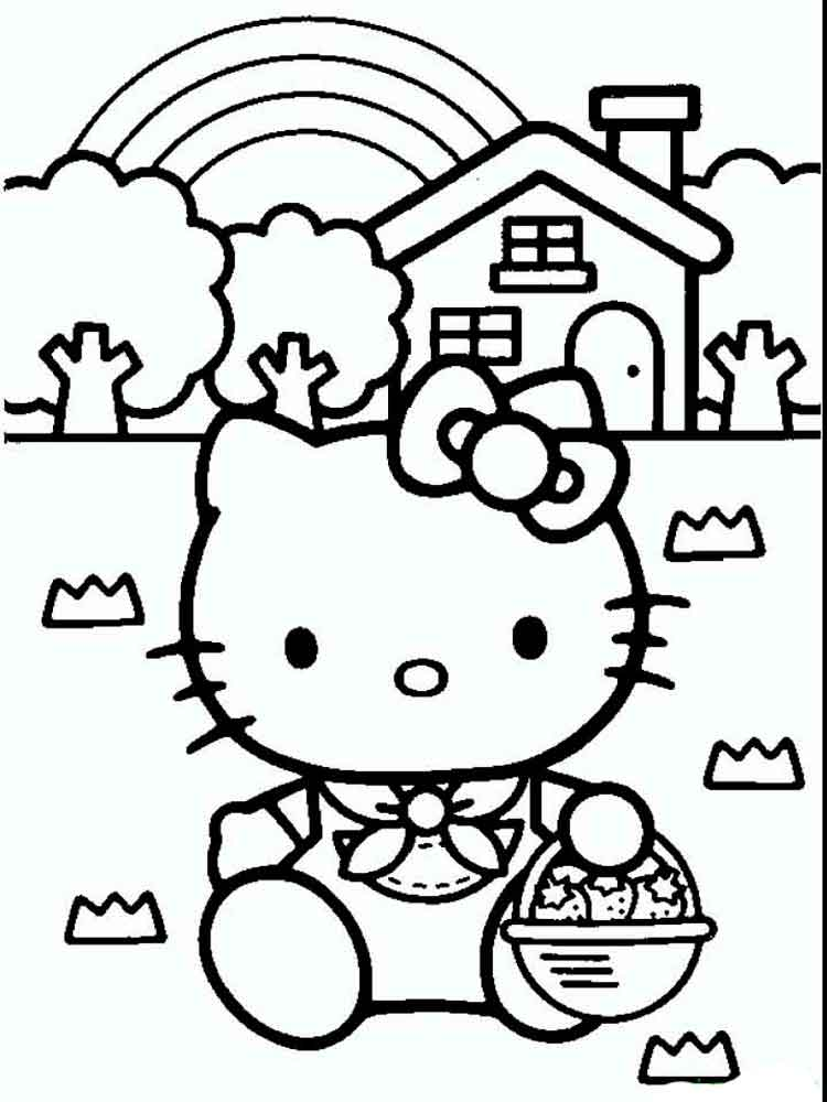 Dibujos Para Colorear Y Imprimir De Hello Kitty