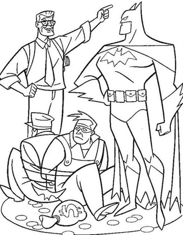 Dibujos Para Pintar De Superman Y Batman
