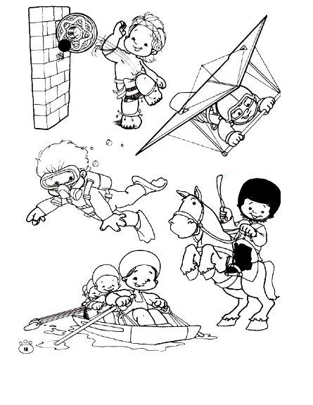 Dibujos Para Pintar Niños Estudiando