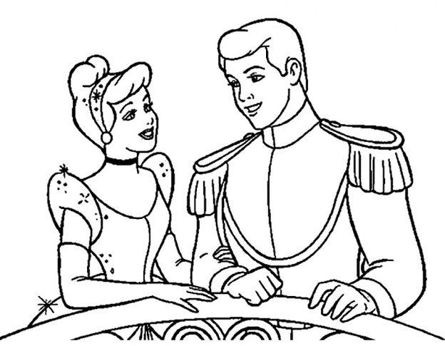 Dubujos De Princesa Y Principe Para Colorear