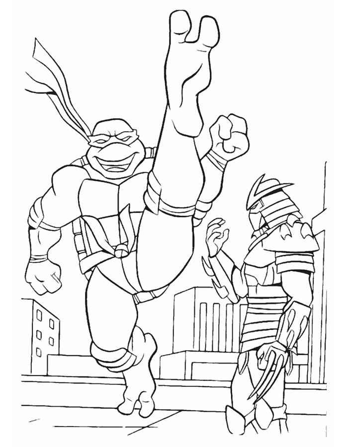Imagenes De Las Tortugas Ninja 2 Para Colorear
