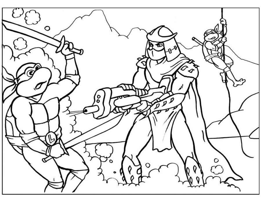 Imagenes De Tortugas Ninja Para Colorear