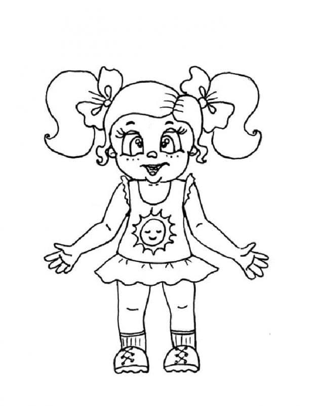 Muñeca Para Niñas Para Colorear