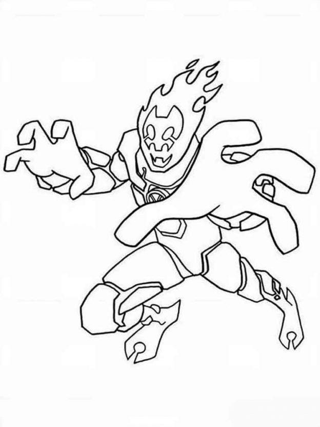 Personaje De Ben 10 Para Dibujar Y Colorear